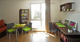 Résidence Parc Harmonie coin salon